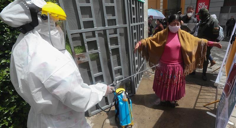 Bolivia registró un nuevo récord de contagios diarios. Foto: EFE