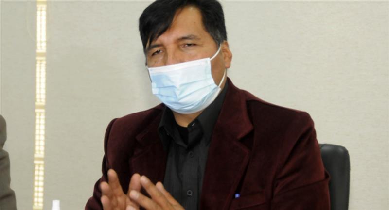 El ministro de Educación Adrián Quelca. Foto: ABI