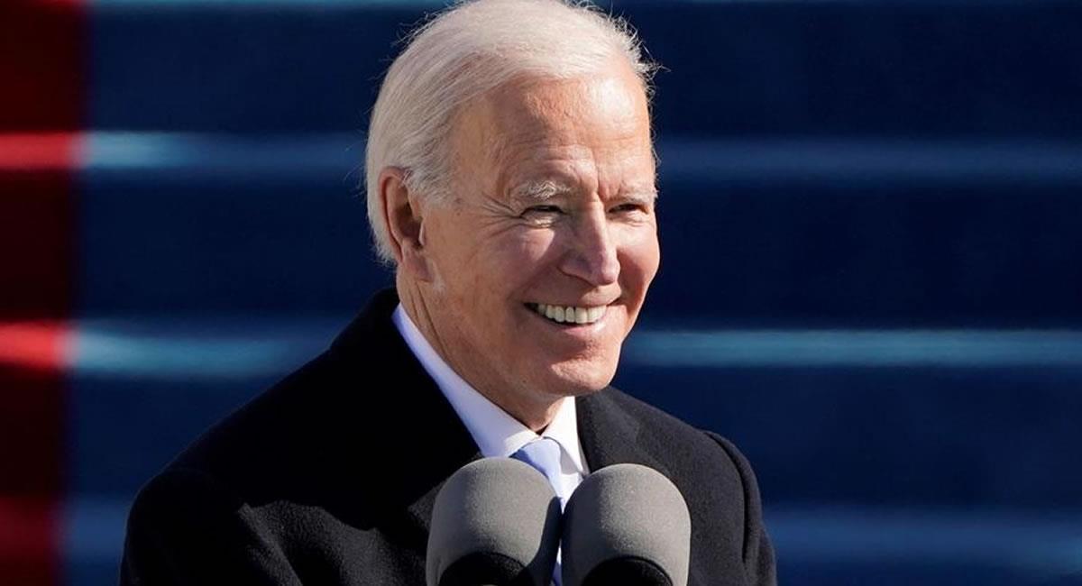 Presidente Joe Biden en su investidura. Foto: EFE