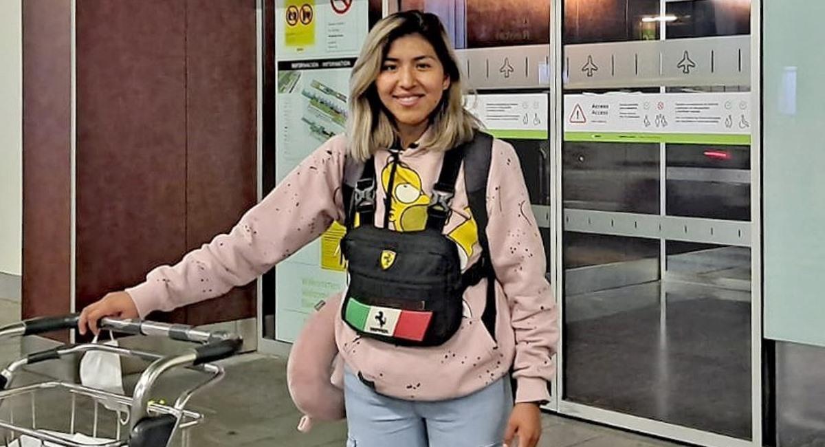 La boliviana Karla Ticona en su arriba a Gran Canaria. Foto: Facebook @Teldeportivo
