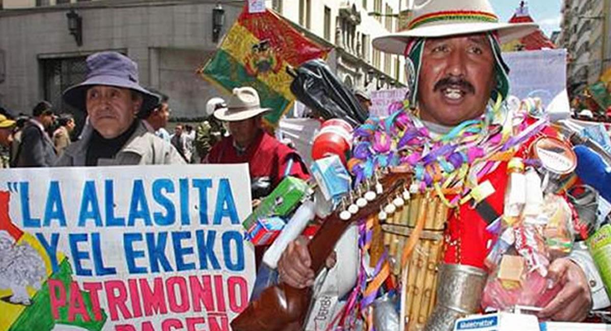 Feria de la Alasita se hará virtual. Foto: ABI