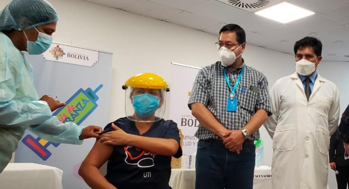 Vacunación contra la covid-19 en Pando. Foto: ABI