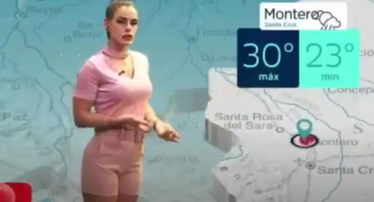 Presentadora en vivo se equivoca en su presentación del clima. Foto: Youtube / Captura canal Mateo Rodriguez