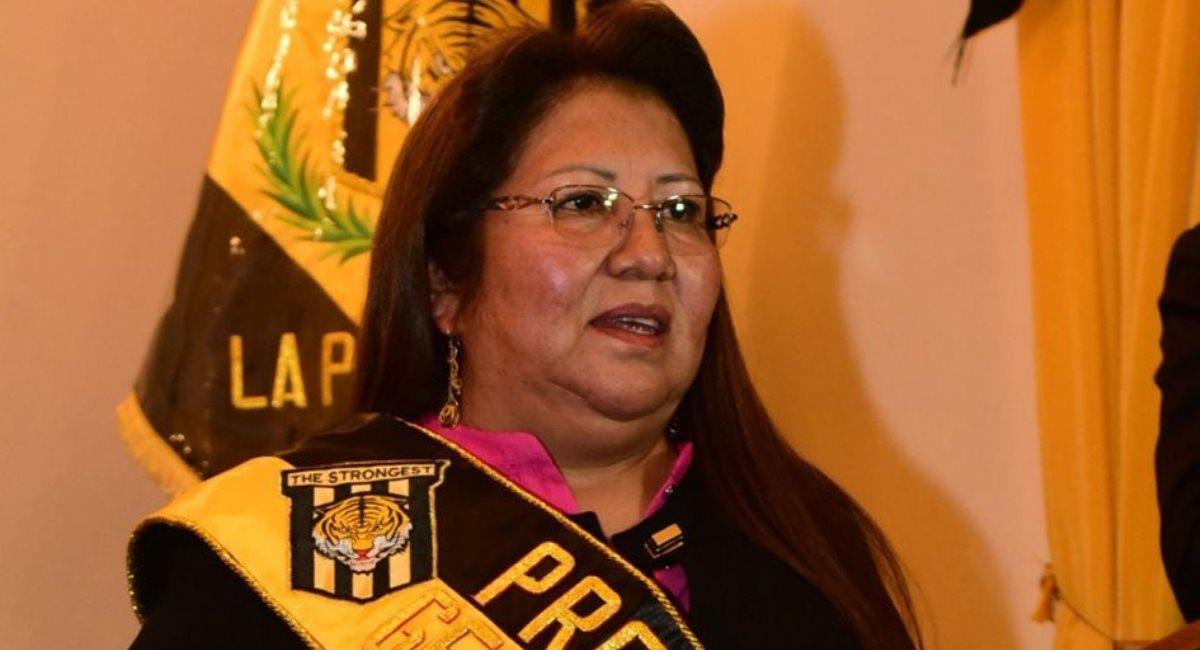 La presidenta de The Strongest, Inés Quispe. Foto: Facebook @FutbolEternoBolivia