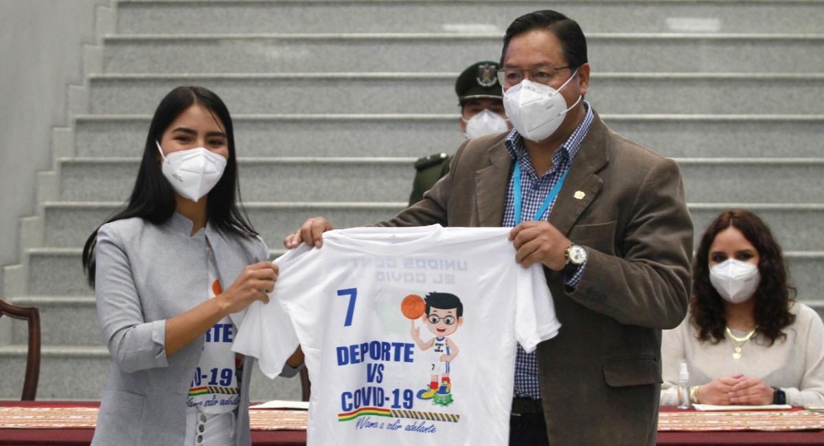 """Gobierno presenta el plan """"Deporte versus COVID-19"""". Foto: ABI"""