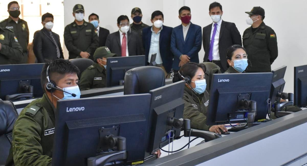 Efectivos de la Policía boliviana. Foto: ABI