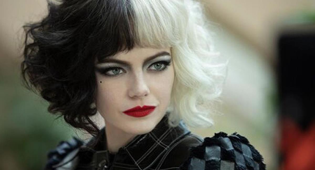 Emma Stone es la mítica villana Cruella de Vil. Foto: Filmaffinity