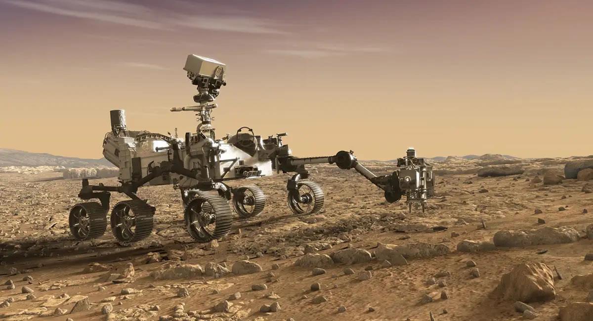 El rover 'Perseverance' está a punto de llegar al suelo marciano. Foto: Twitter @NASA