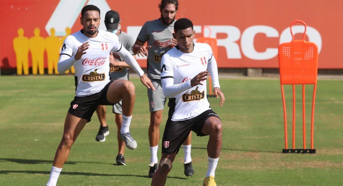 Entrenamiento de la selección peruana. Foto: Twitter @SeleccionPeru