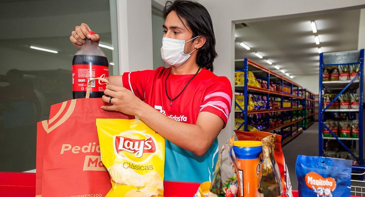 El supermercado online ya está disponible en la plataforma con más de 1.500 productos. Foto: Cortesía PedidosYa