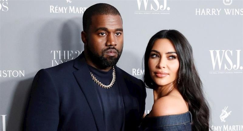 Kanye West y Kim Kardashian. Foto: EFE
