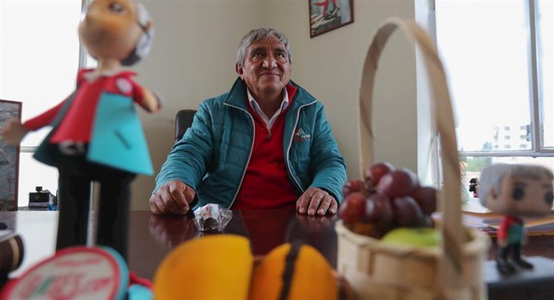 El candidato a la Alcaldía de La Paz, Iván Arias. Foto: EFE