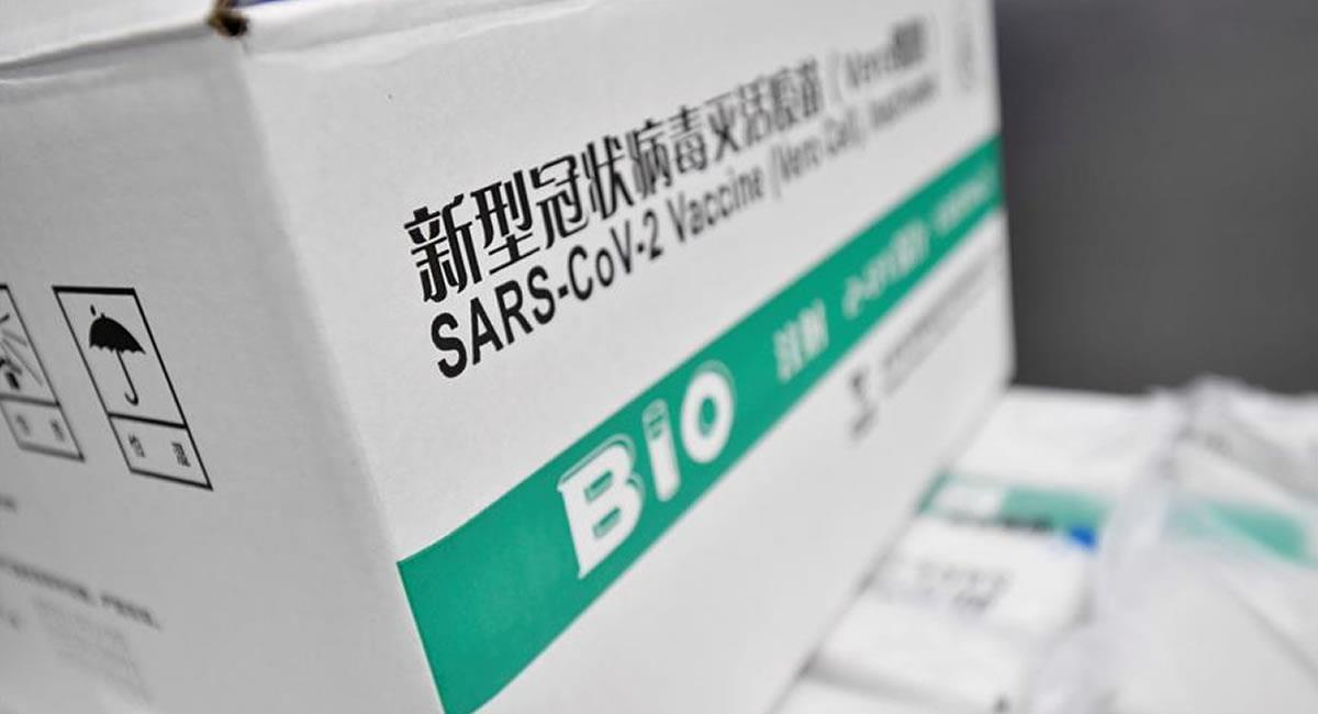 Bolivia aguarda la llegada de medio millón de vacunas del laboratorio chino Sinopharm. Foto: EFE