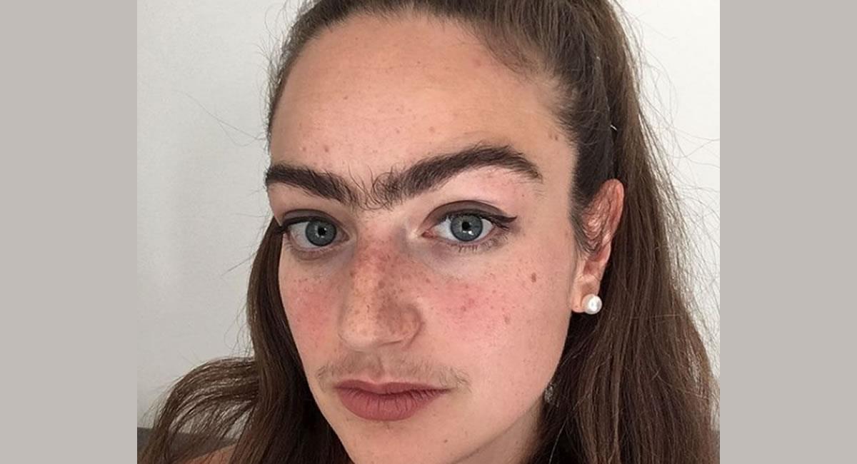 La joven lleva más de un año sin depilarse. Foto: Instagram @eldina_jaganjac