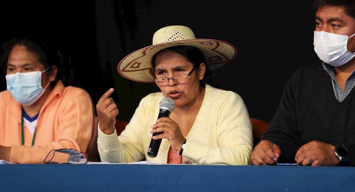 La ministra de Culturas, Sabina Orellana. Foto: EFE