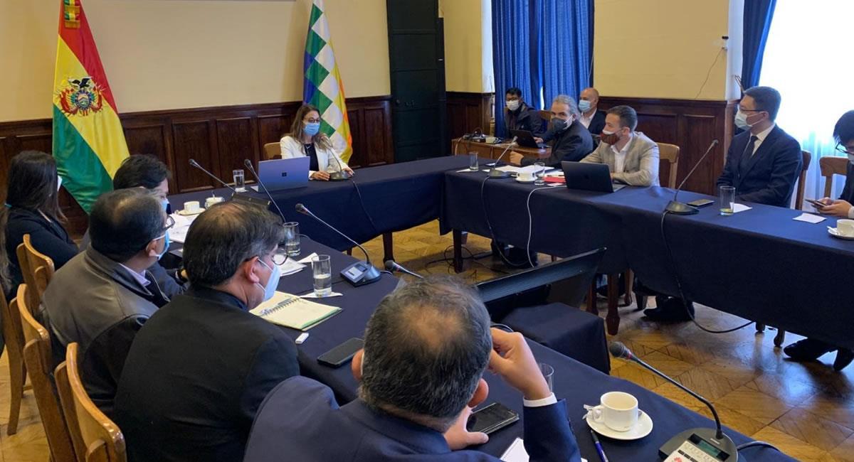 Reunión sobre la transformación digital para el sistema de salud. Foto: ABI