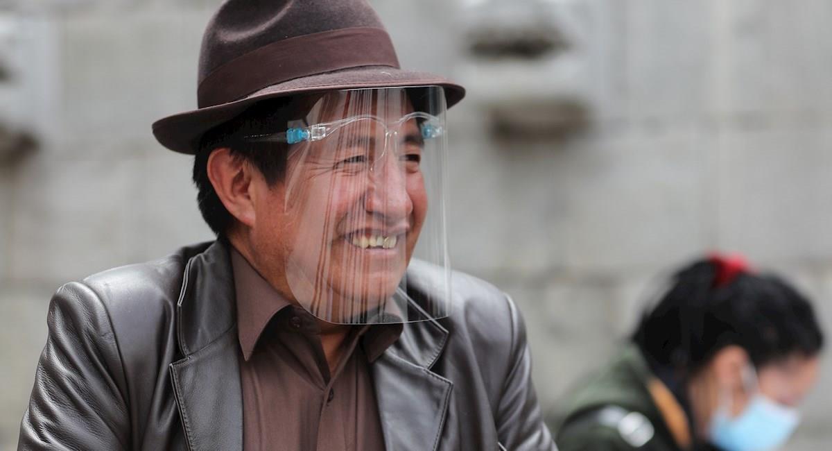 """El candidato a la Gobernación de La Paz, Rafael """"El Tata"""" Quispe. Foto: EFE"""
