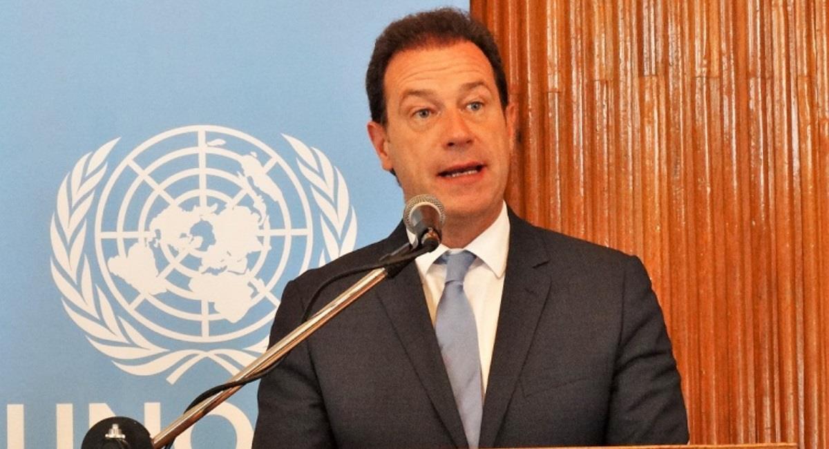El representante de la Oficina de las Naciones Unidas contra la Droga y el Delito (UNODC), Thierry Rostan. Foto: ABI