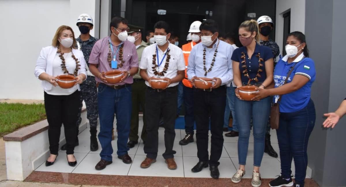 El presidente inaugura mejoras en el aeropuerto de Cobija. Foto: ABI