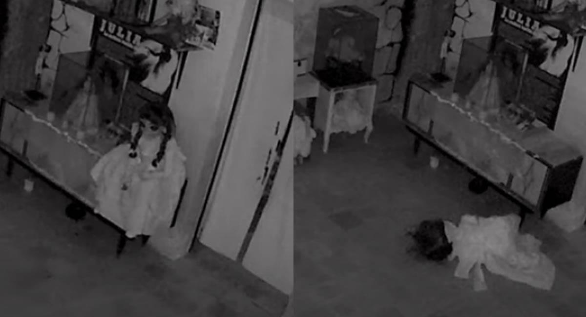 Momento en el que la 'muñeca' se mueve sola. Foto: Youtube / Captura canal Jorge Moreno Misterios