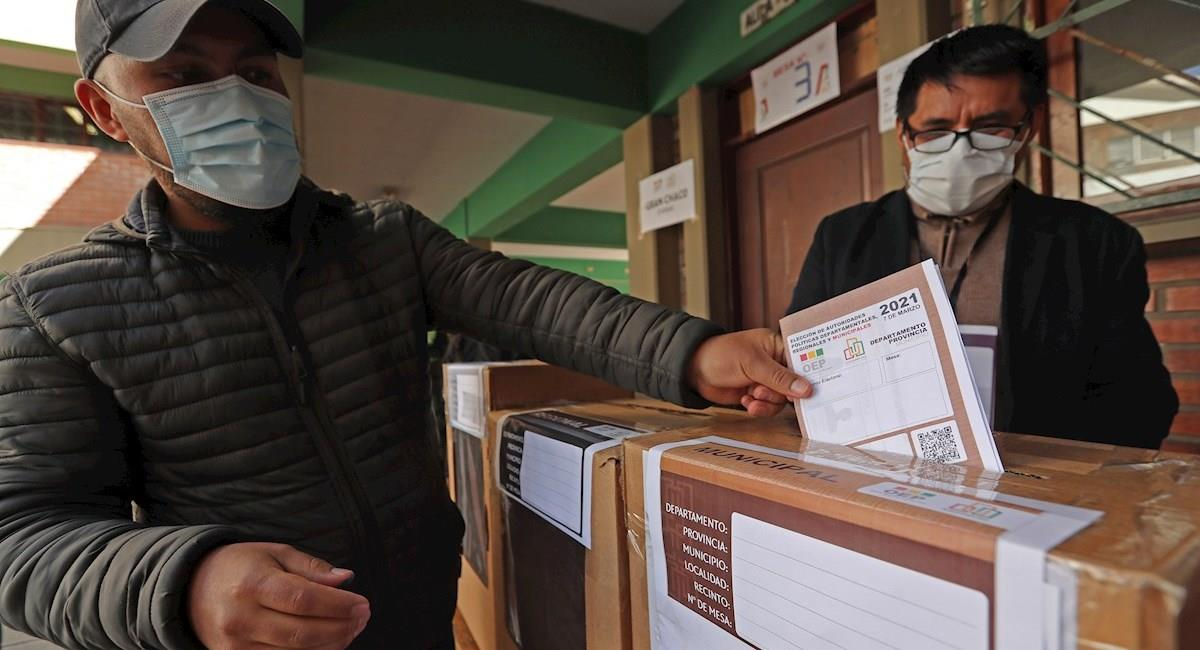Simulacro de la elecciones subnacionales. Foto: EFE