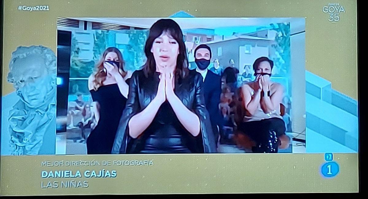 Goya a Mejor Dirección de Fotografía para Daniela Cajías. Foto: Twitter @PremiosGoya