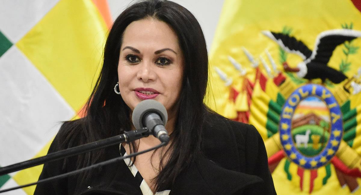 Exministra de Comunicación del régimen de Áñez. Foto: Twitter @abi_bolivia