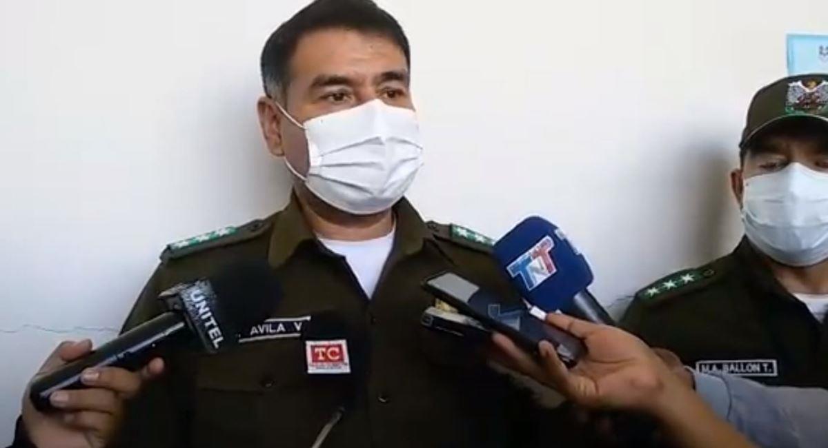 El comandante de la Policía Departamental de Tarija, Sadid Ávila. Foto: ABI