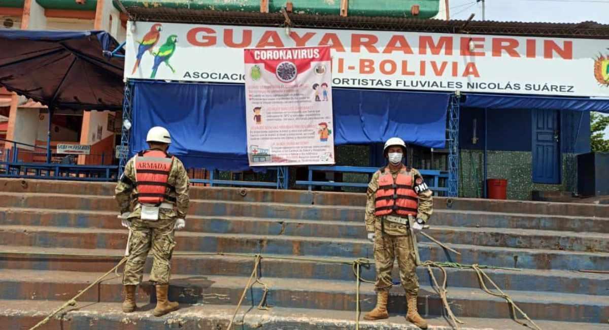 Policía militar en Guayaramerín, Beni. Foto: ABI