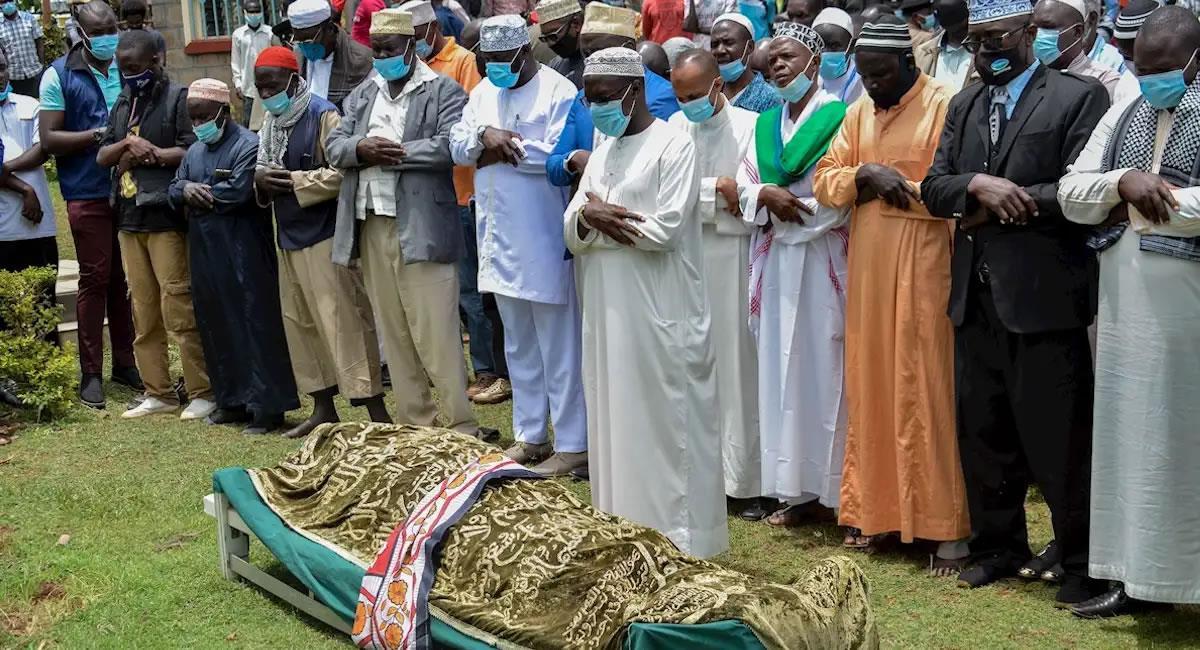 Funeral de Sarah Onyango Obama. Foto: EFE