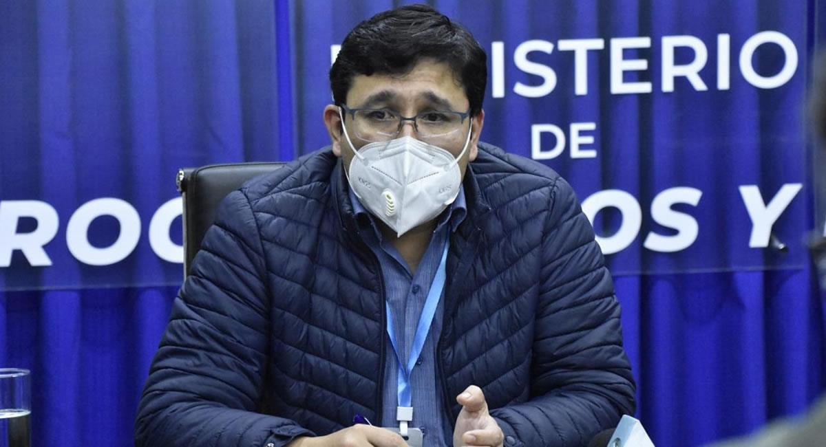 Ministro de Hidrocarburos y Energías, Franklin Molina. Foto: ABI