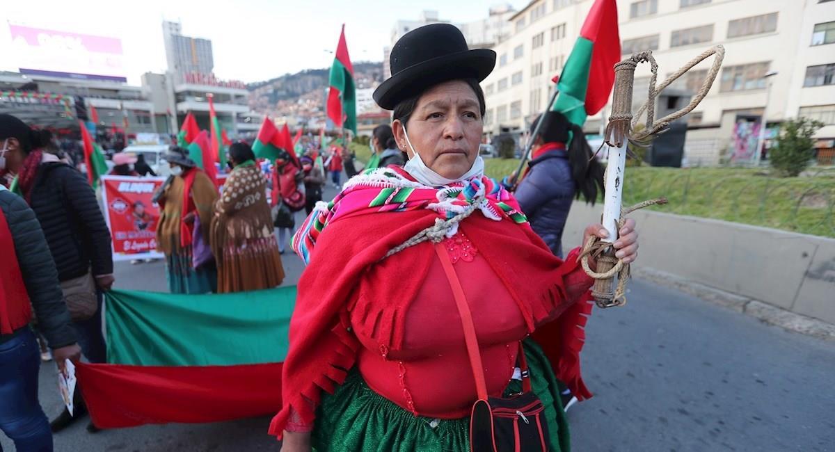 Simpatizantes de Jallalla La Paz en su cierre de campaña. Foto: EFE