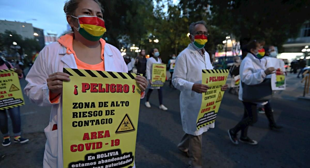 Protestas del sector médico. Foto: EFE