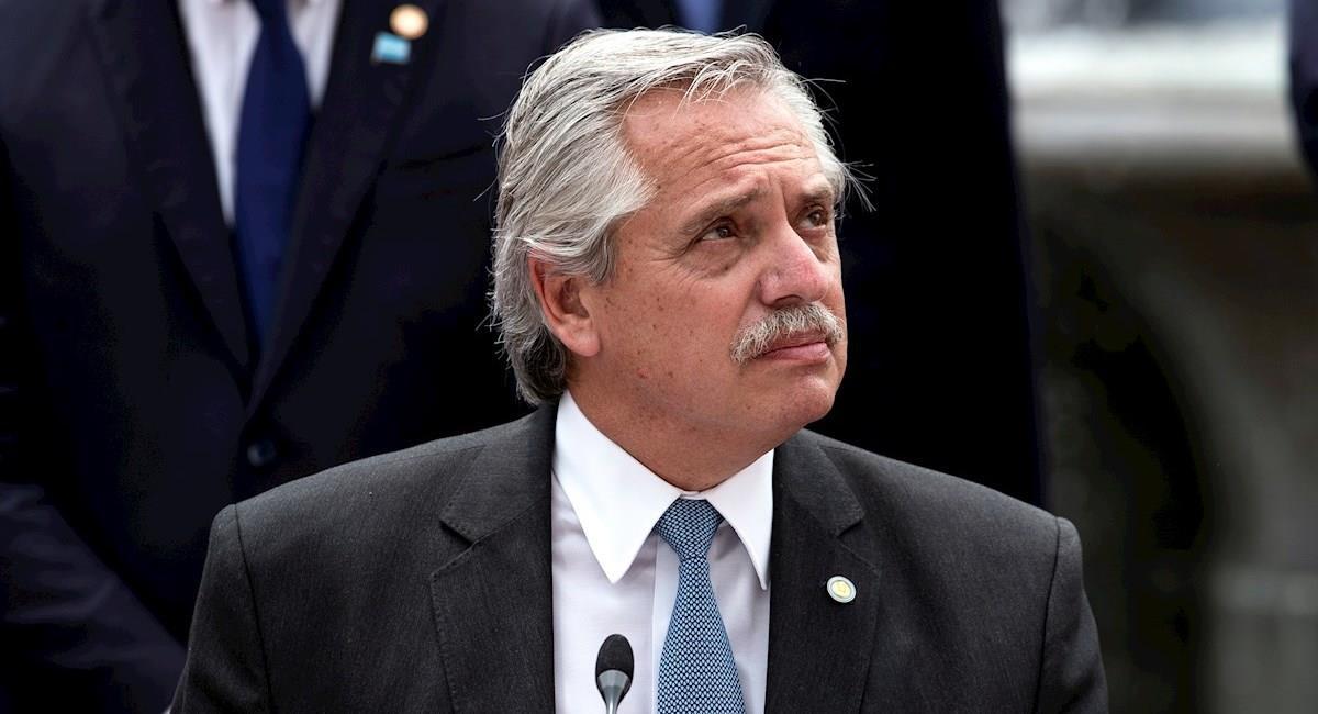 El presidente de Argentina, Alberto Fernández. Foto: EFE