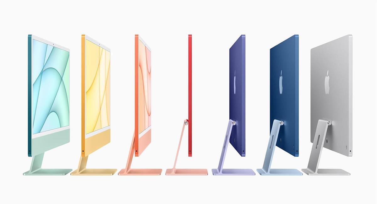 """El iMac viene equipado con un cable de corriente magnético que se conecta a la parte trasera y lo complementan un teclado, un ratón y un """"trackpad"""". Foto: EFE"""