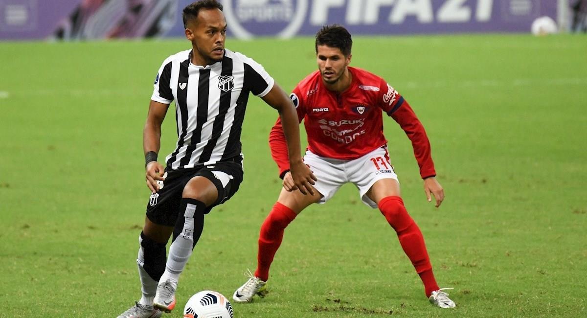 Imágenes del partido Ceará vs Wilstermann. Foto: EFE