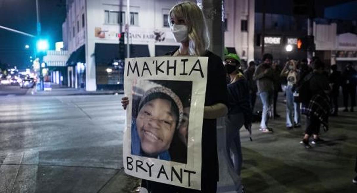 La policía de la ciudad norteamericana de Columbus, mató a tiros a una adolescente afroamericana, identificada como Ma'Khia Bryant. Foto: ABI