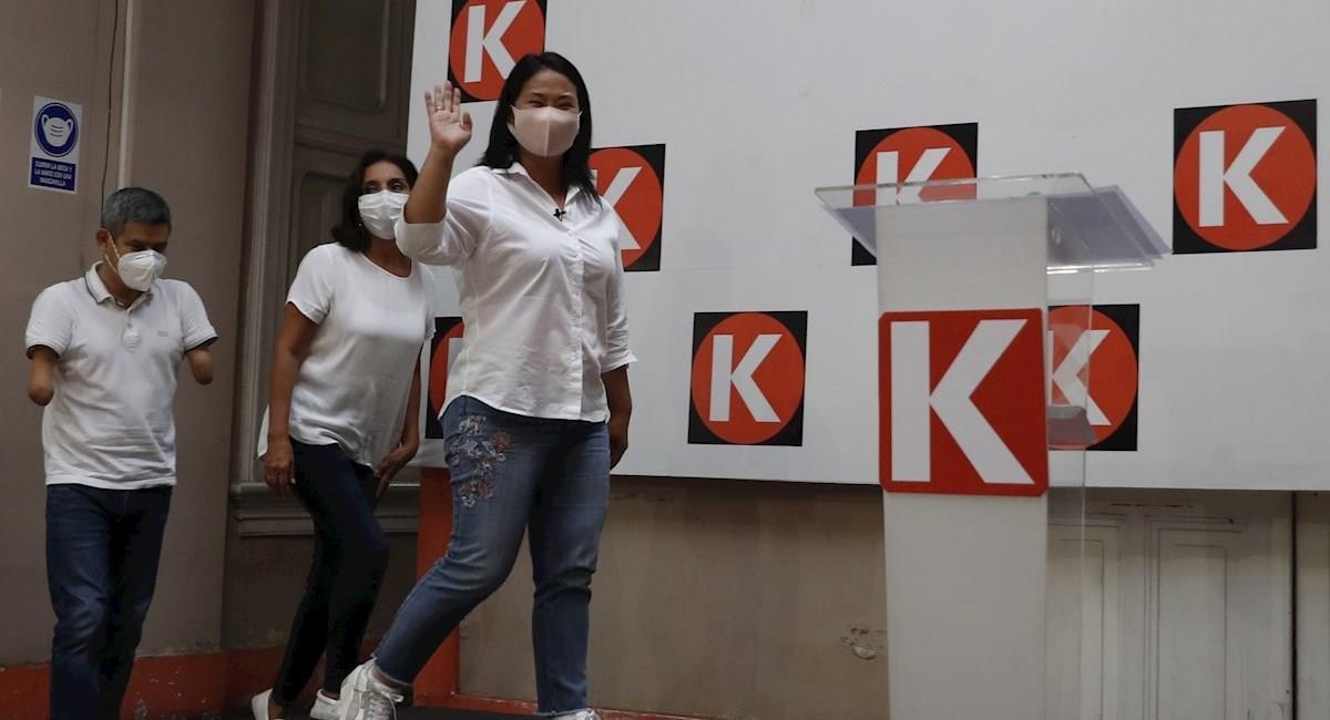 La candidata presidencial peruana Keiko Fujimori. Foto: EFE