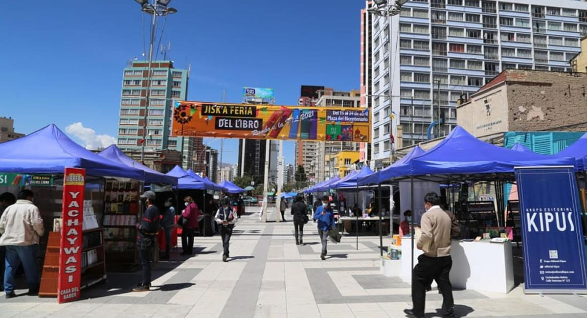 Feria del Libro en Bolivia. Foto: ABI