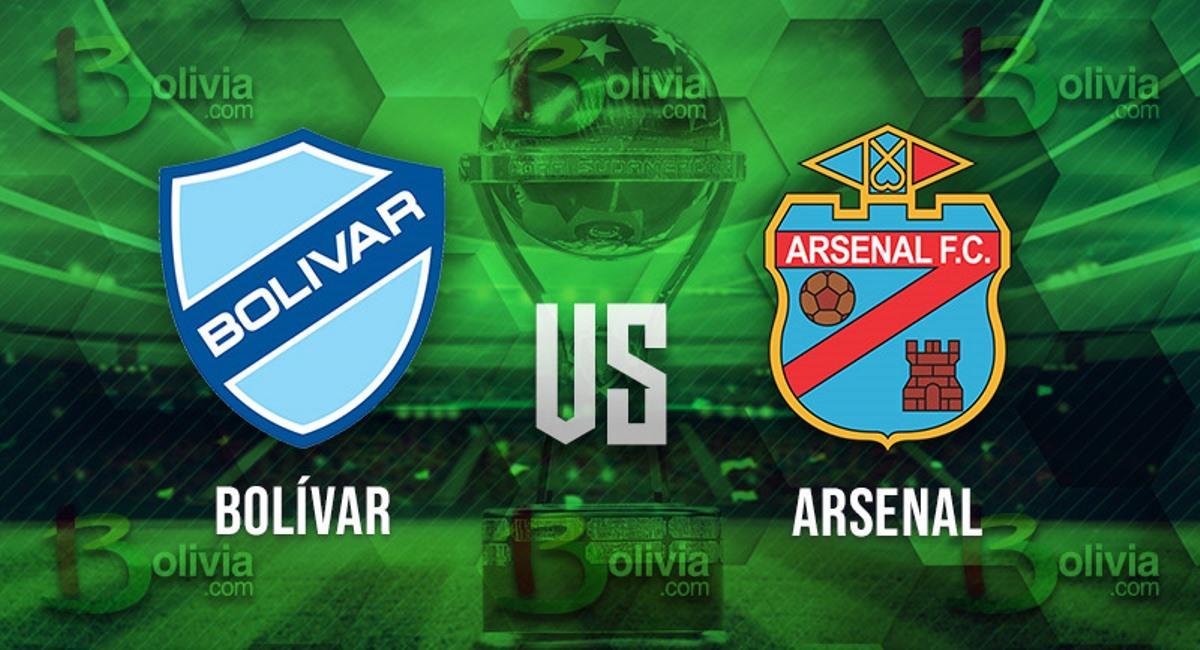 Bolívar vs Arsenal. Foto: Interlatin
