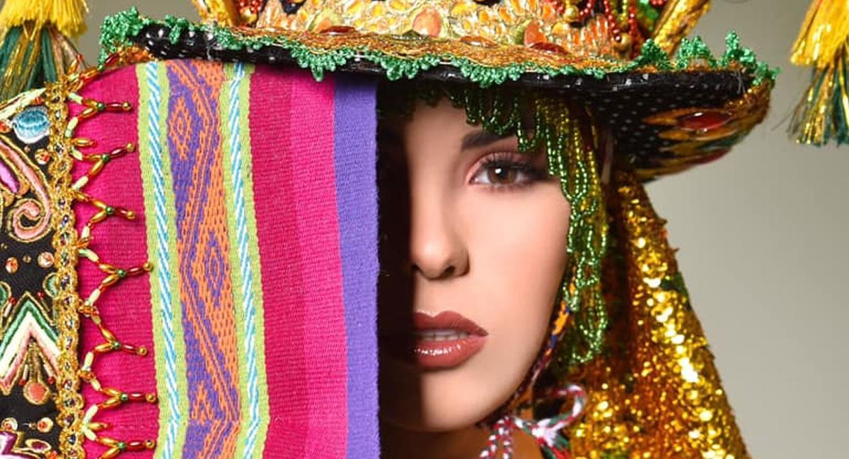 Traje típico de Lenka Nemer para el Miss Universo. Foto: Facebook Promociones Gloria