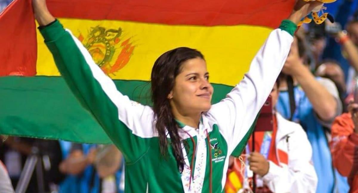 La nadadora boliviana Karen Torrez. Foto: Facebook Karen Torrez