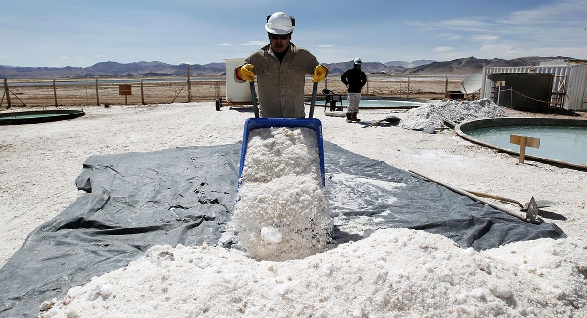 Después de Bolivia, está Argentina con una reserva que llega a 17 millones de toneladas, seguido de otros países. Foto: ABI
