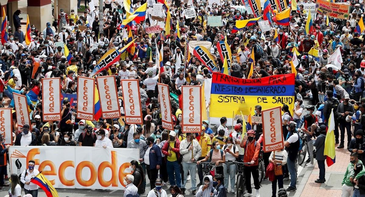 Protestas en Colombia. Foto: EFE