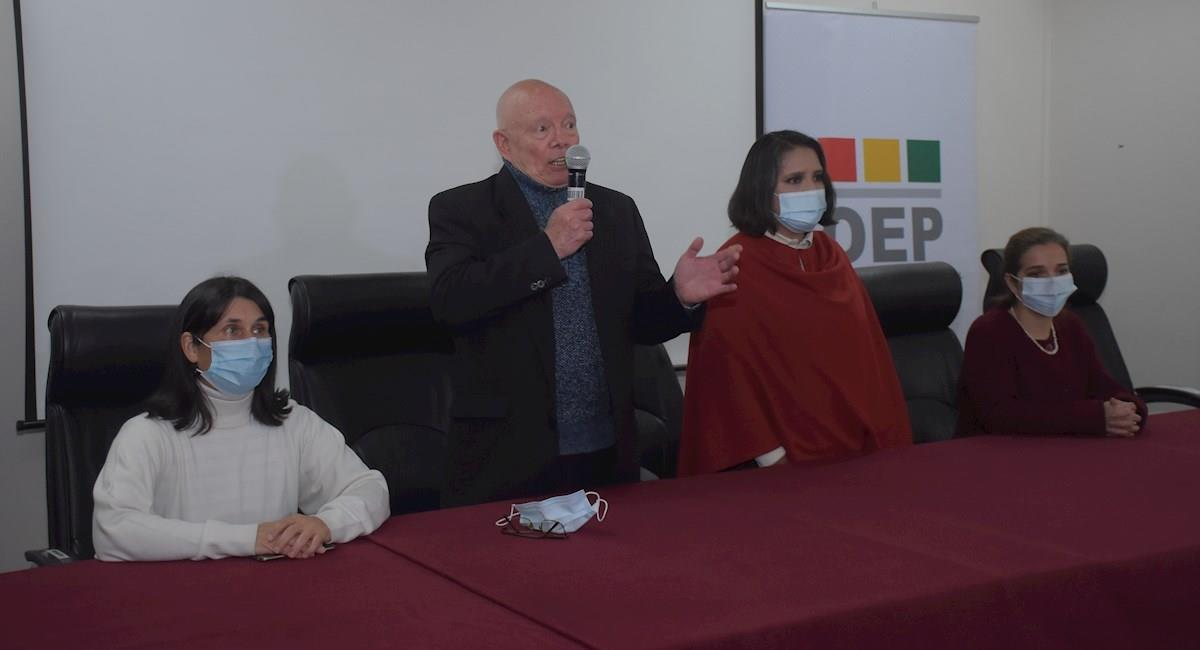 El presidente del TSE Óscar Hassenteufel. Foto: EFE