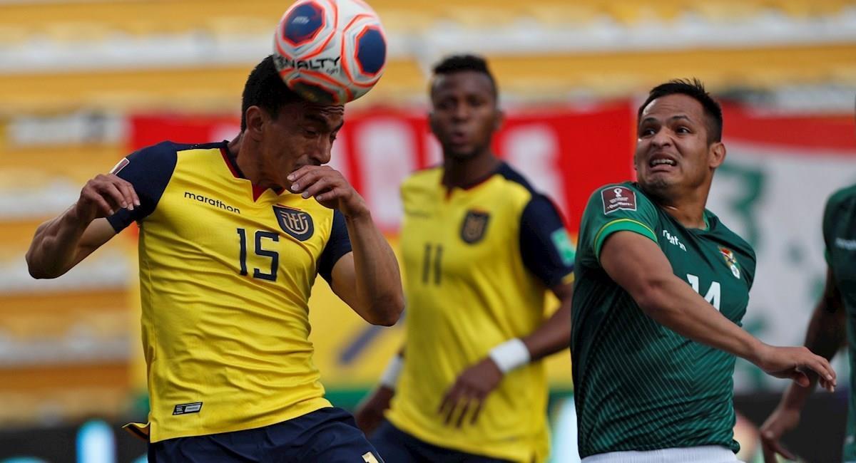 Partido de la fecha 3 Bolivia vs Ecuador. Foto: EFE