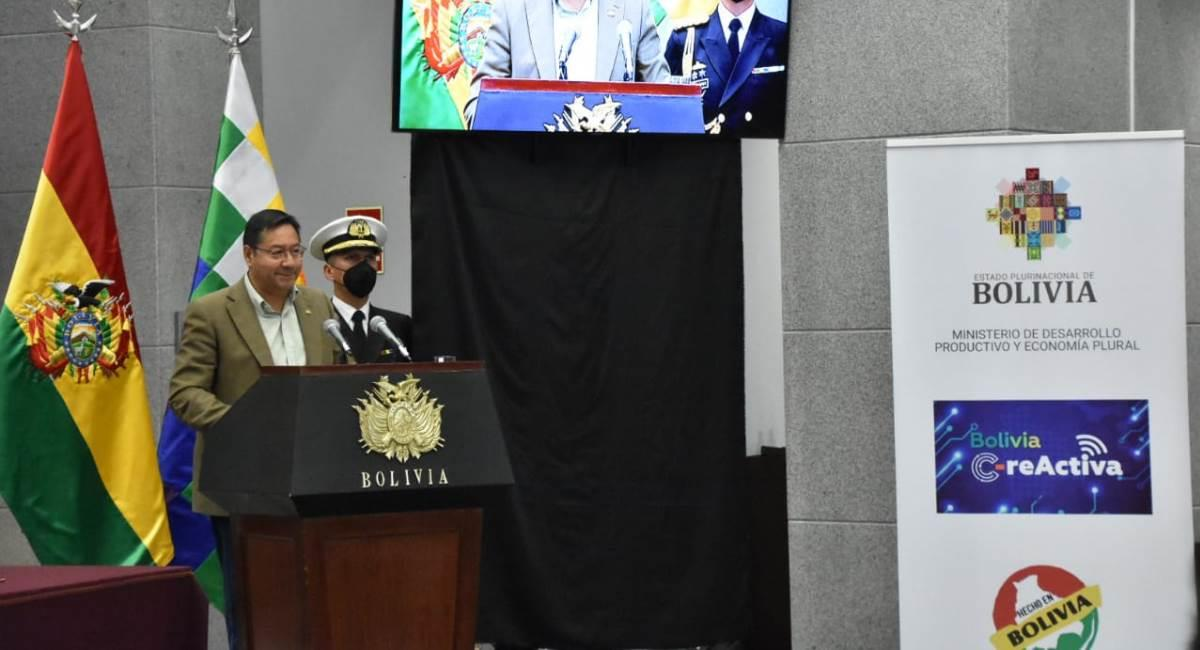 "Gobierno convoca al concurso ""Bolivia C-reActiva"". Foto: ABI"