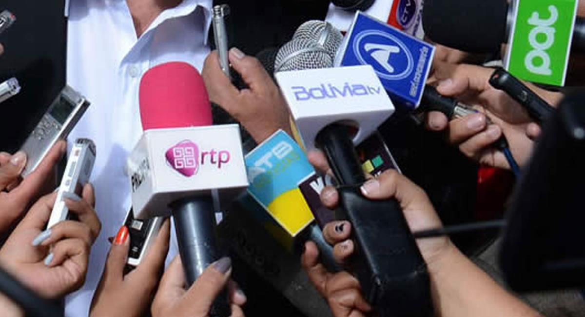 Periodistas en Bolivia. Foto: ABI