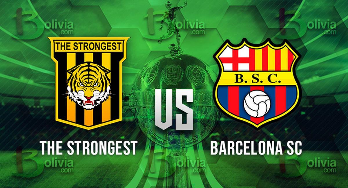 Partido The Strongest vs Barcelona. Foto: Interlatin