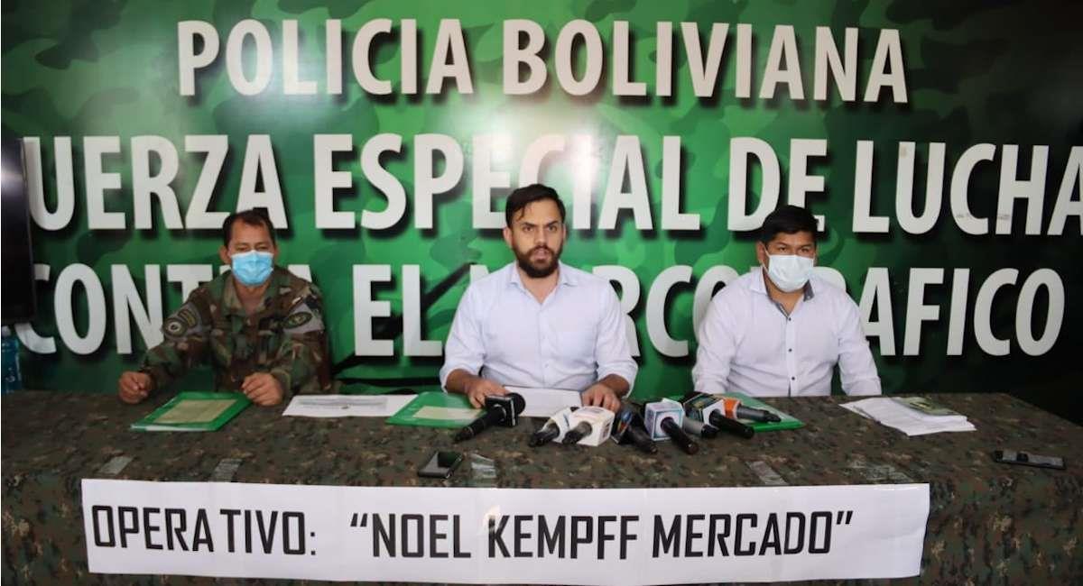 Encontrar laboratorios de cocaína en el Parque Nacional Noel Kempff Mercado. Foto: Facebook @MindeGobierno